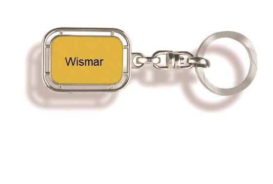Werbeartikel: Orts Schlüsselanhänger=Schlüsselanhänger Wismar