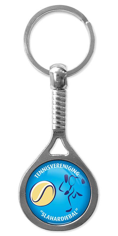 Werbeartikel: Sport Schlüsselanhänger=Tennis-Metal Schlüsselanhänger,