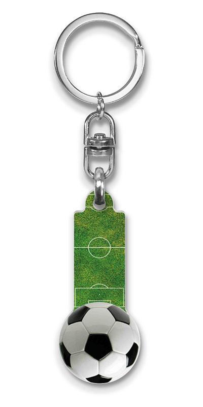 Werbeartikel: Sport Schlüsselanhänger=Fußball Schlüsselanhänger,