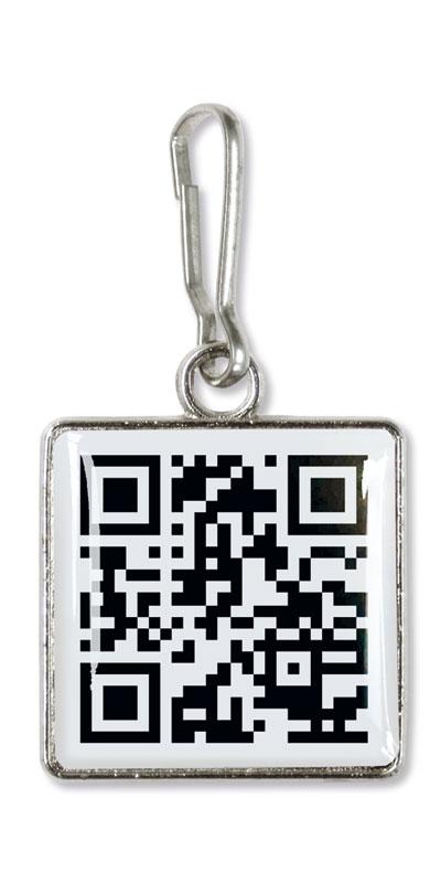 Werbeartikel: Werbe zipper anhänger=Zipper Puller QR Code,