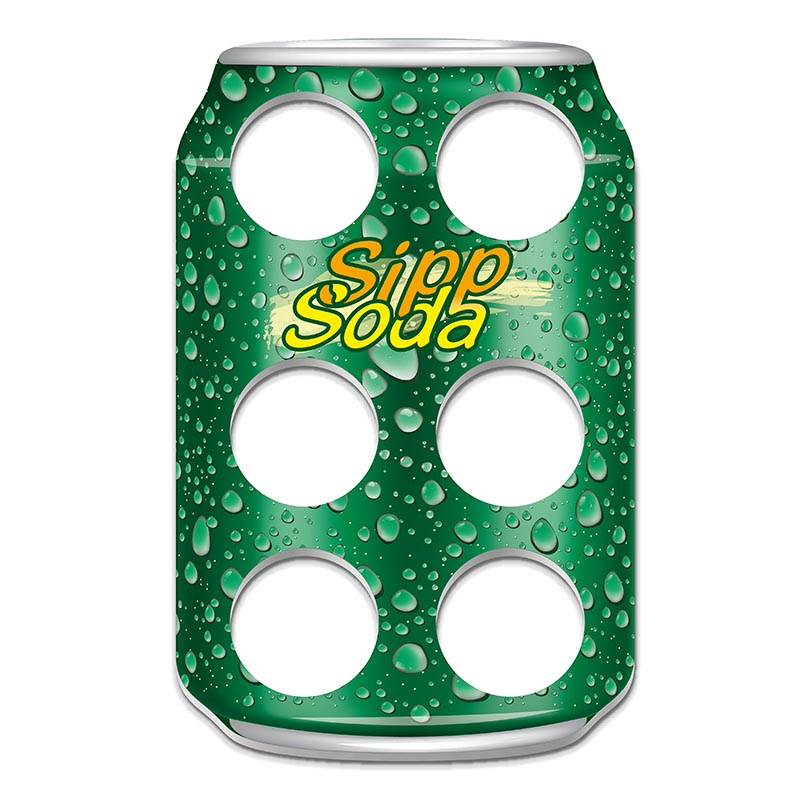 Werbeartikel: Becherhalter=Sipp Soda Becher-halter