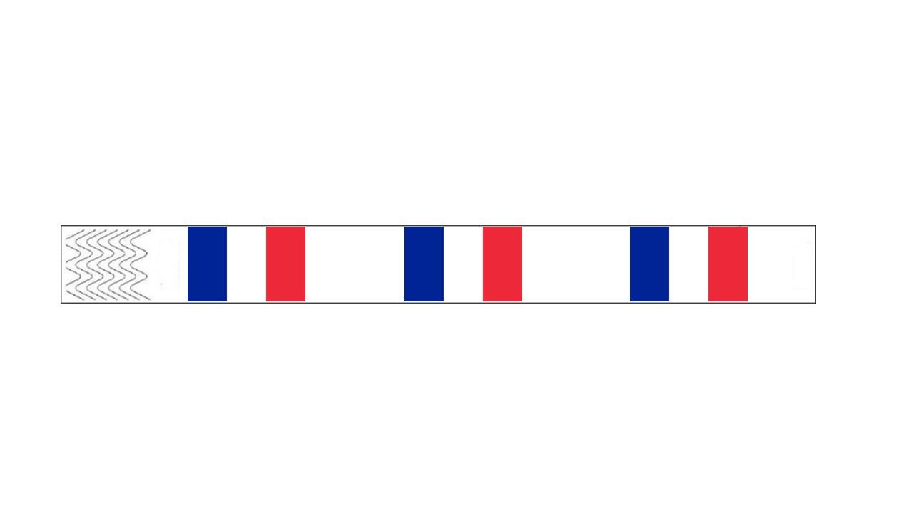 Werbeartikel: Kontrollarmbänder Länder,=Kontroll-armbänder Frankreich