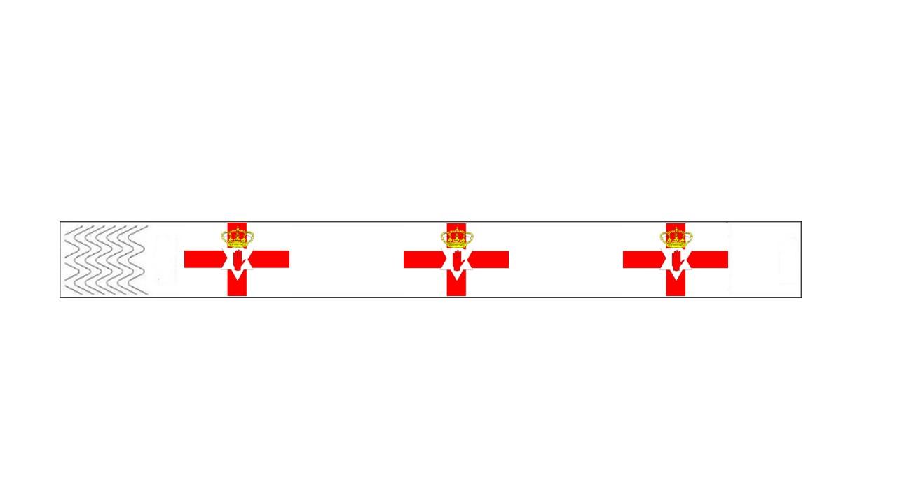Werbeartikel: Kontrollarmbänder Länder,=Kontrollarmbänder Nordirland,