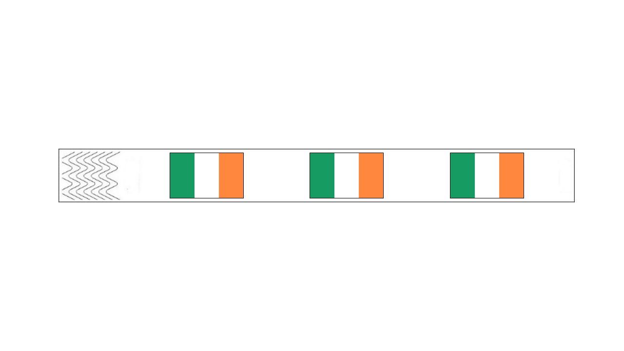 Werbeartikel: Kontrollarmbänder Länder,=Kontrollarmbänder Irland,