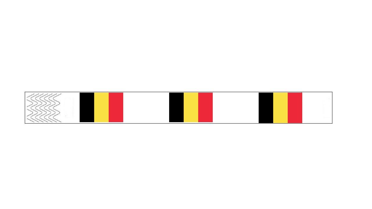 Werbeartikel: Kontrollarmbänder Länder,=Kontrollarmbänder Belgien,