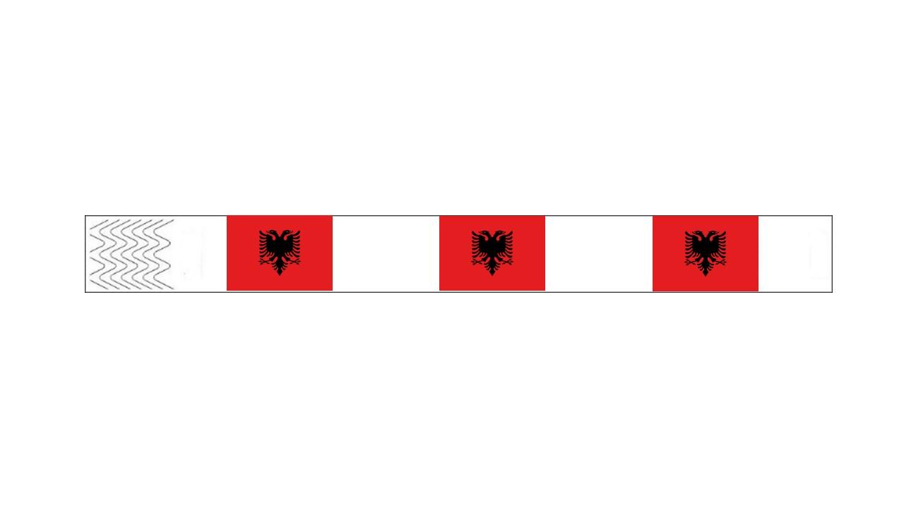 Werbeartikel: Kontrollarmbänder Länder,=Kontrollarmbänder Albanien,