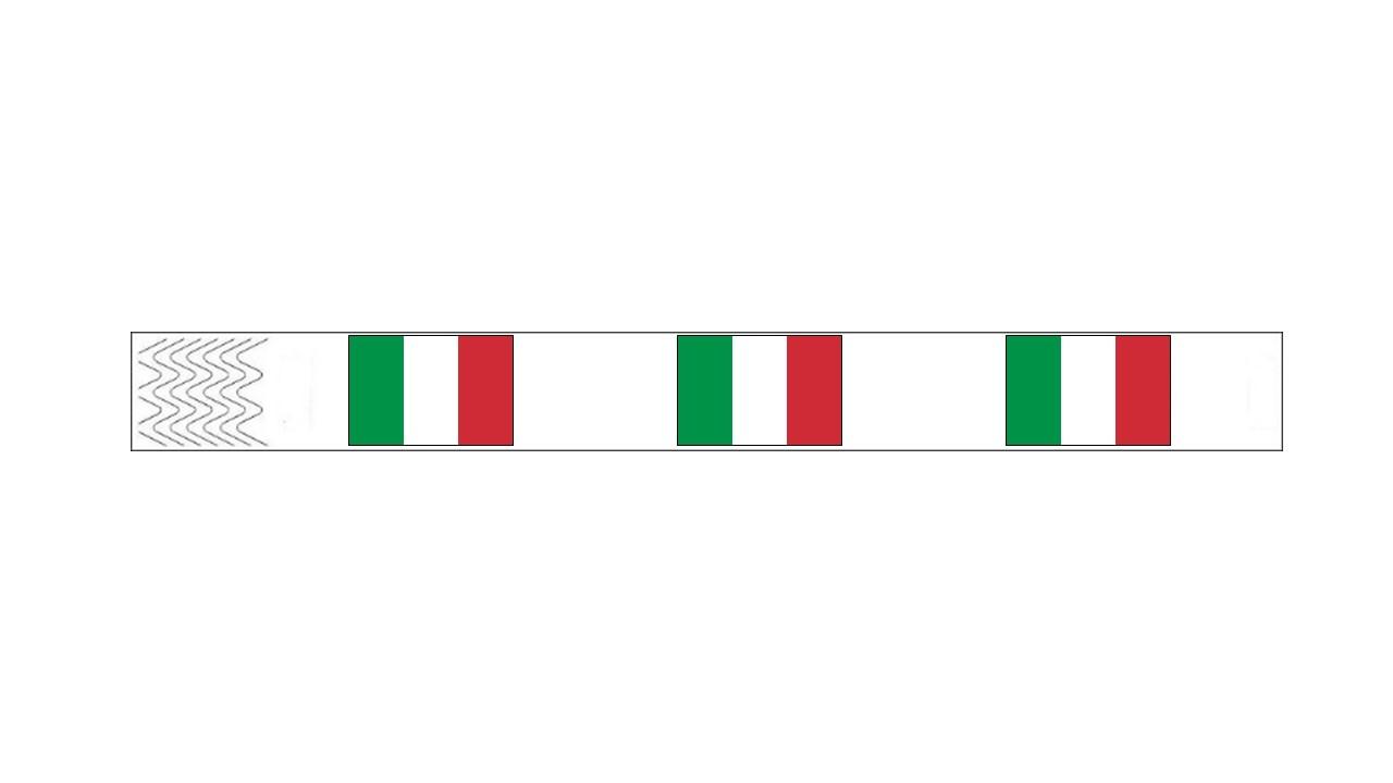 Werbeartikel: Kontrollarmbänder Länder,=Kontrollarmbänder Italien,