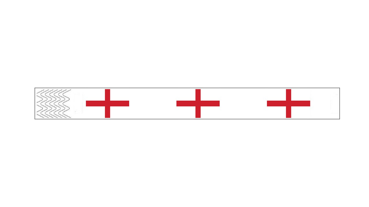 Werbeartikel: Kontrollarmbänder Länder,=Kontrollarmbänder England,