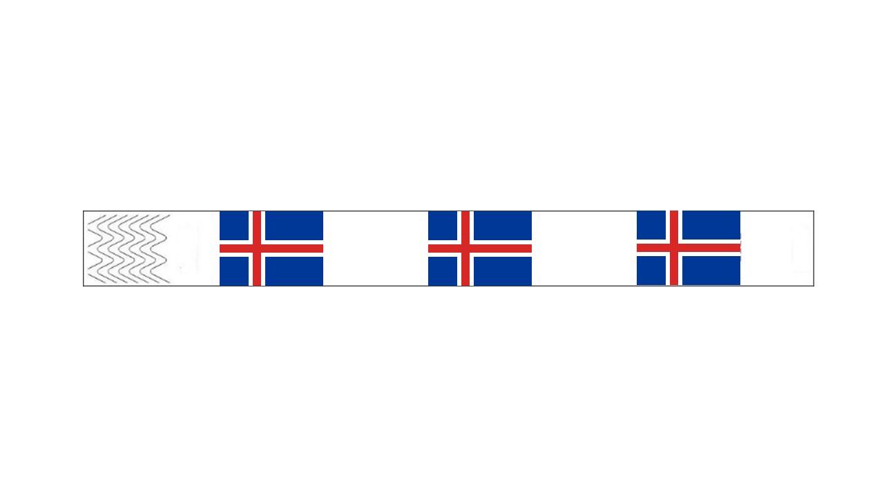 Werbeartikel: Kontrollarmbänder Länder,=Kontrollarmbänder Island,