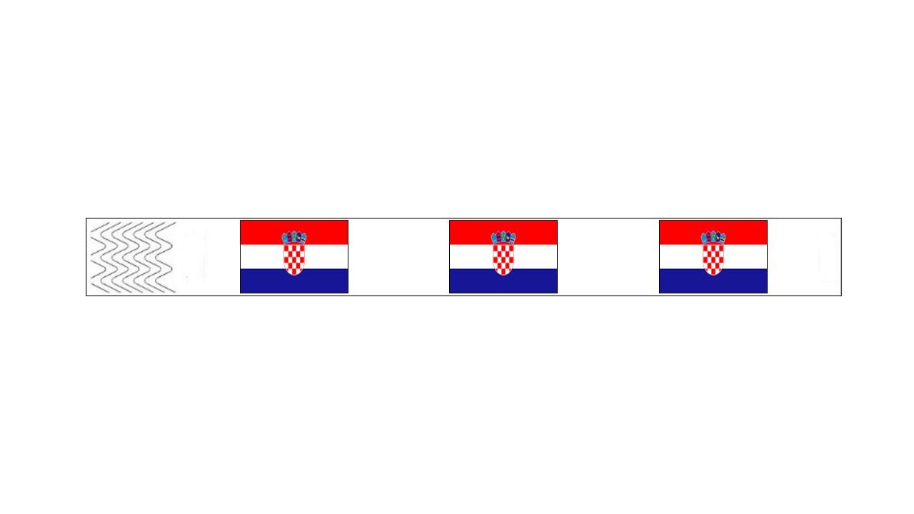 Werbeartikel: Kontrollarmbänder Länder,=Kontrollarmbänder Kroatien,