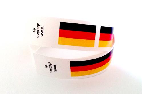Werbeartikel: Partyartikel, Events-artikel,=Deutschland Kontrollarmb�nder